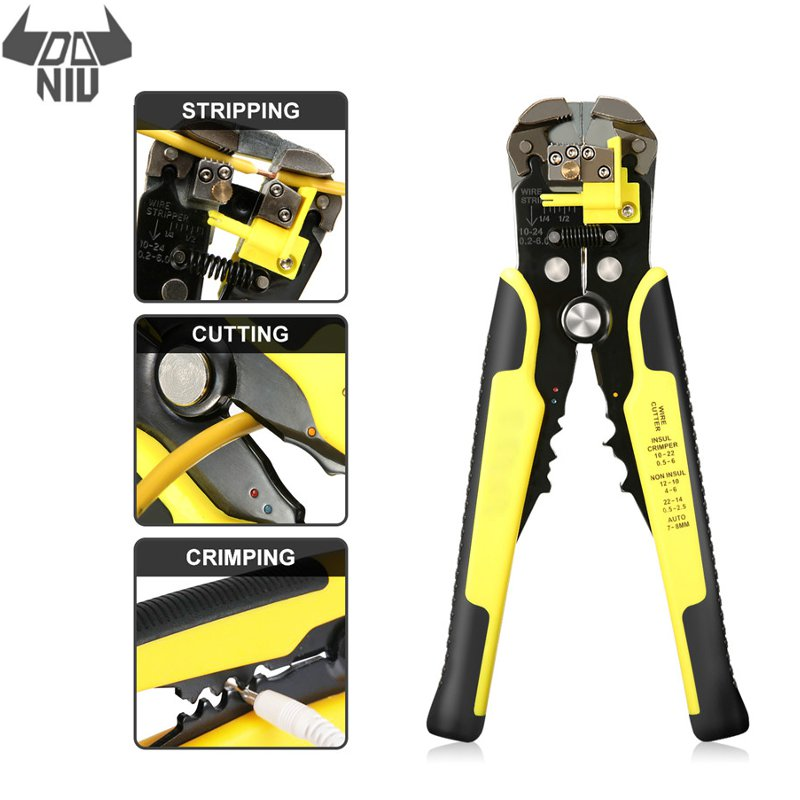 Stripping Automatic Cutter Pliers Wire Stripper Cable Crimper Kit Crimping Tools