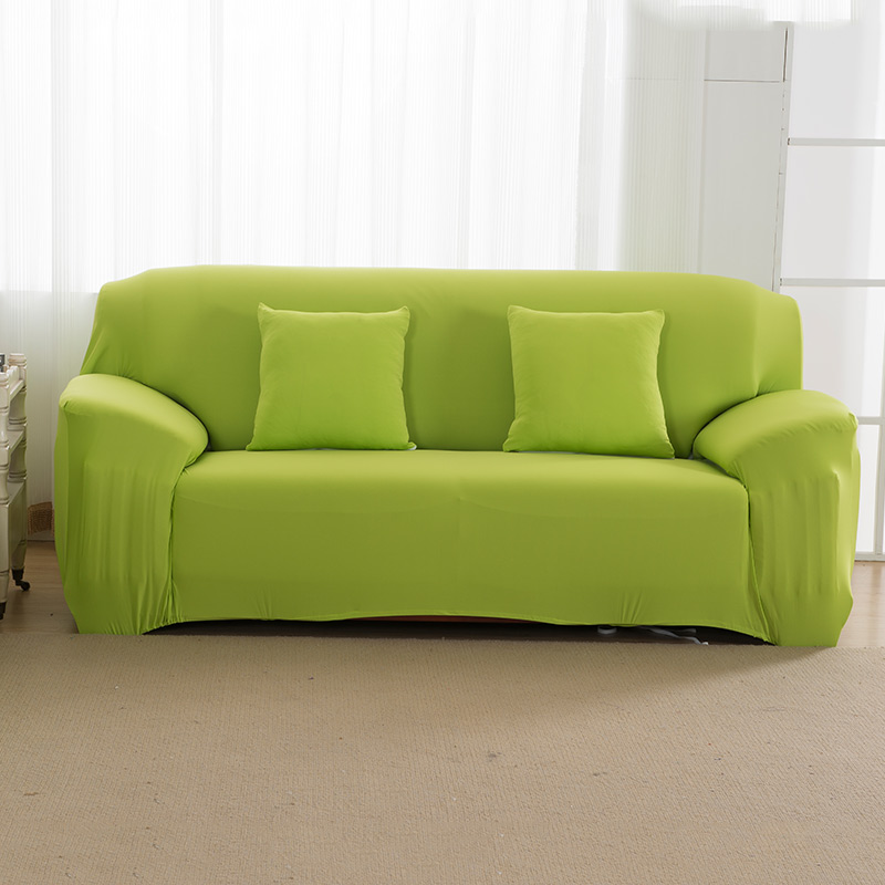 Elastic Sofa Cover Cotton 2 Pieces Covers for L-Shape Corner Sectional Sofa Cover Solid Color,Color 1,1Seater and 1Seater