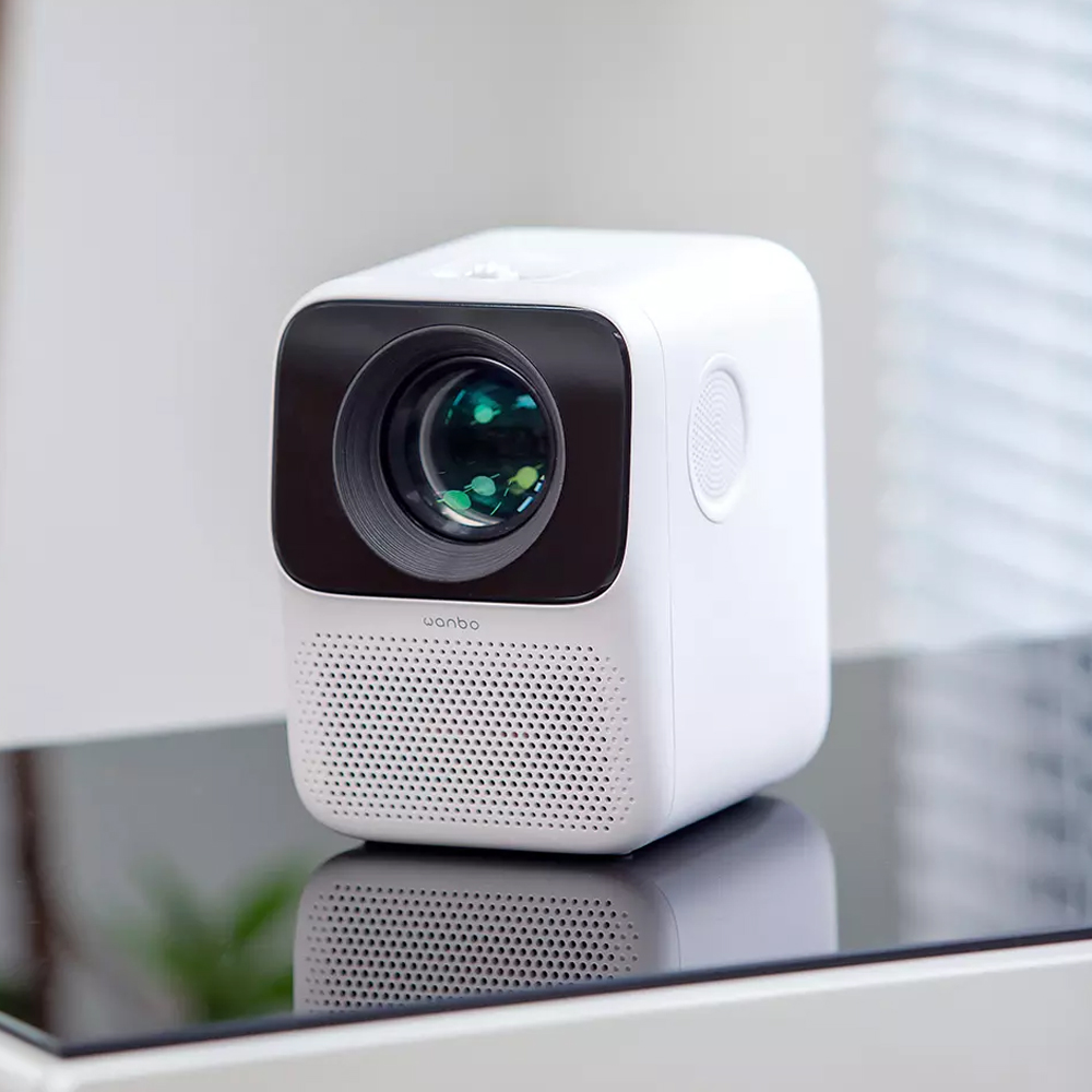 Xiaomi Wanbo LCD Mini Projector T2 Free LED 150ANSI Vertical Keystone Correction Support 1080P Multimedia TV Home Theater White  Projector China