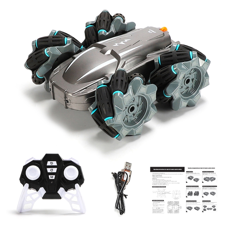 2.4G Wireless Remote Control Double-sided Driving Stunt Car 4WD 360 Degree Rotation Drift Deformation LED Light RC Car