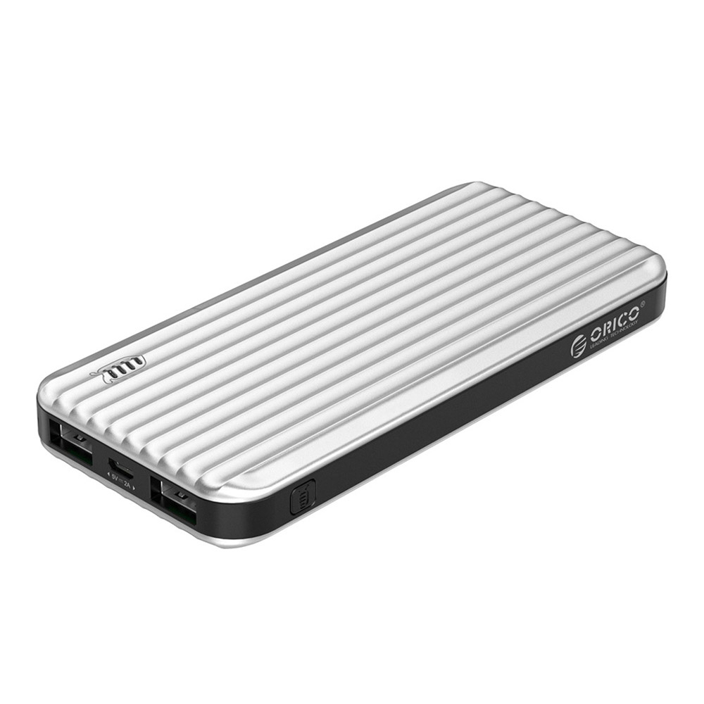 ORICO 10000mAh Suitcase-style Power Bank with LED Indicator 5V2A Dual Output External Battery Charge for Mobile Phone - 10000mah