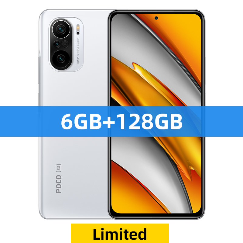 Global Version POCO F3 5G Smartphone Snapdragon 870 Octa Core 128GB/256GB 6.67 120Hz E4 AMOLED Display - 128GB White Limited Official Standard China