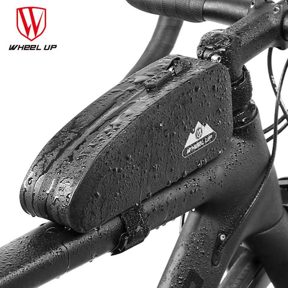 Cycling Bicycle Front Frame Bag Bike Waterproof Tube Pouch Phone Holder Pannier