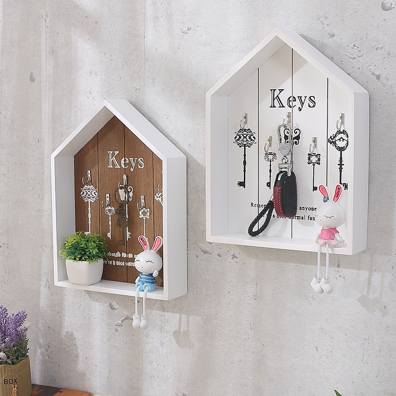 Home Wall Decoration Handmade Key Wooden Hook Storage Box Sale Price Reviews Gearbest