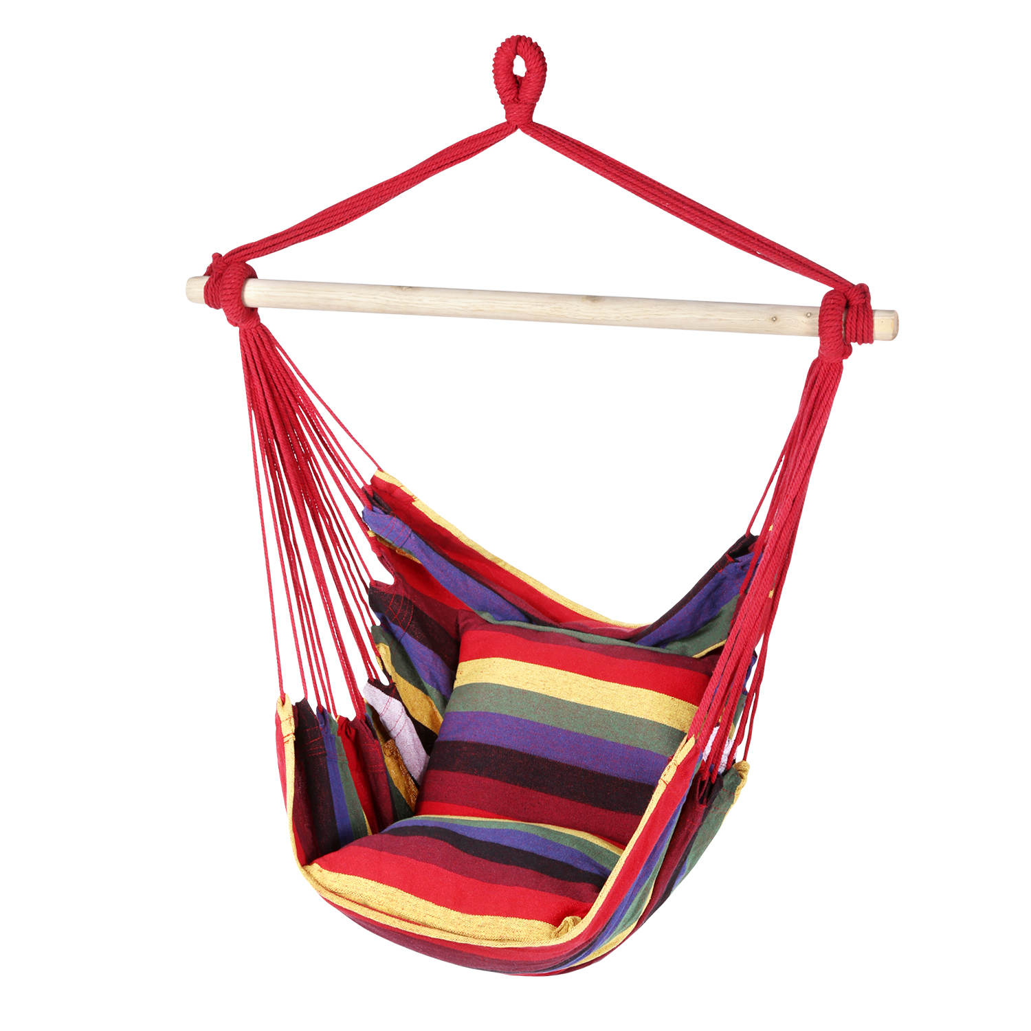 nkeeo Red Hanging Chair Fabric Outdoor Camping and Hiking - Cherry Red Japan