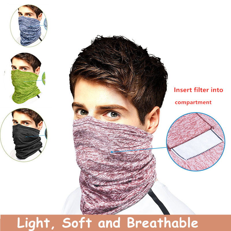 Reusable Bandanas Dust Proof 3-Ply Fabric Cover Face Fabric Shield Washable Mens Womens Under Nose Eye Scarf 1PCS,Breathable/Comfortable Fashion Sleeping Tape Outdoor Cycling