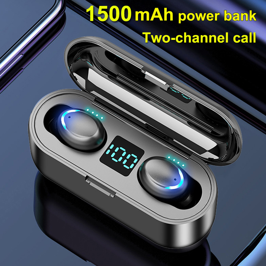 F9 7 With Power Display Touch Wireless 5 0 Binaural Waterproof In Ear Bluetooth Headset Sale Price Reviews Gearbest Mobile