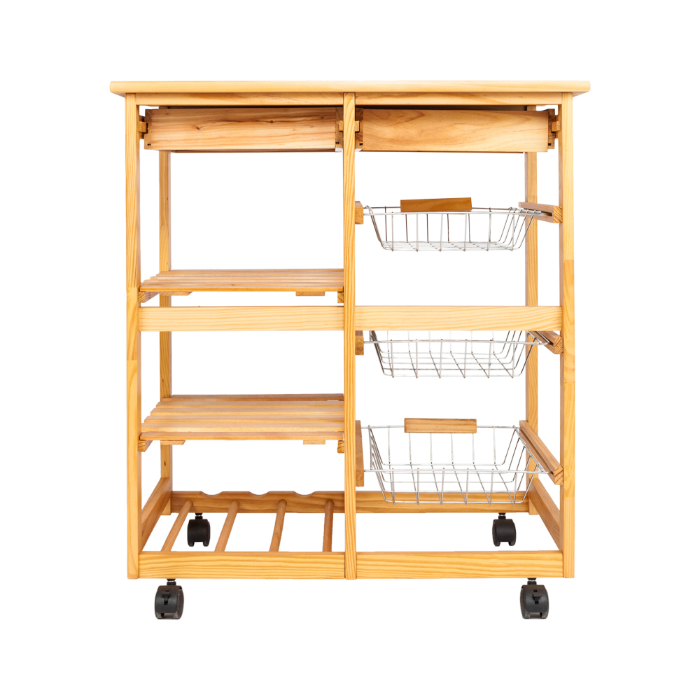 Kitchen Dining Room Cart 2 Drawer Removable Storage Rack With Rolling Wheels Wood Color Sale Price Reviews Gearbest