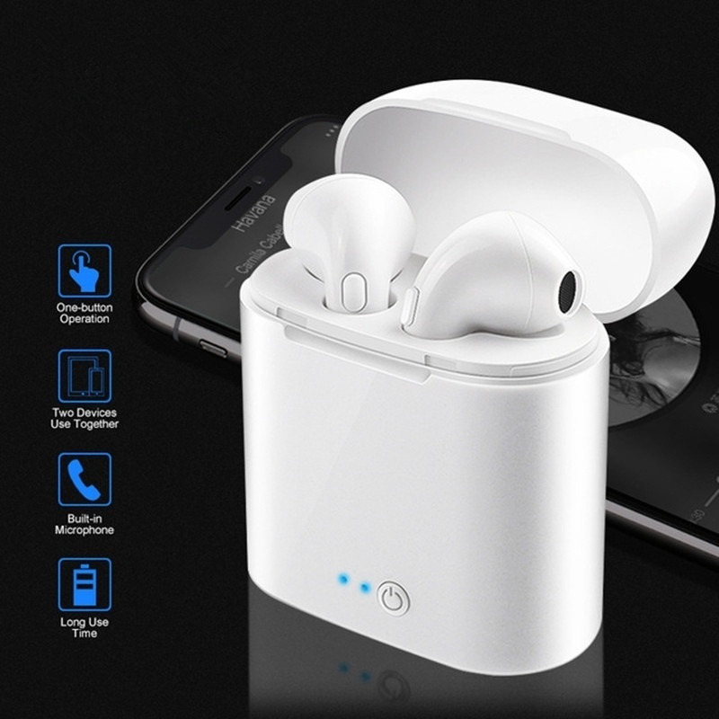 New Wireless Earbuds With Charging Box Mini Bluetooth Headset Earphone Stereo Handsfree Headset Mic For All Smart Phone Sale Price Reviews Gearbest