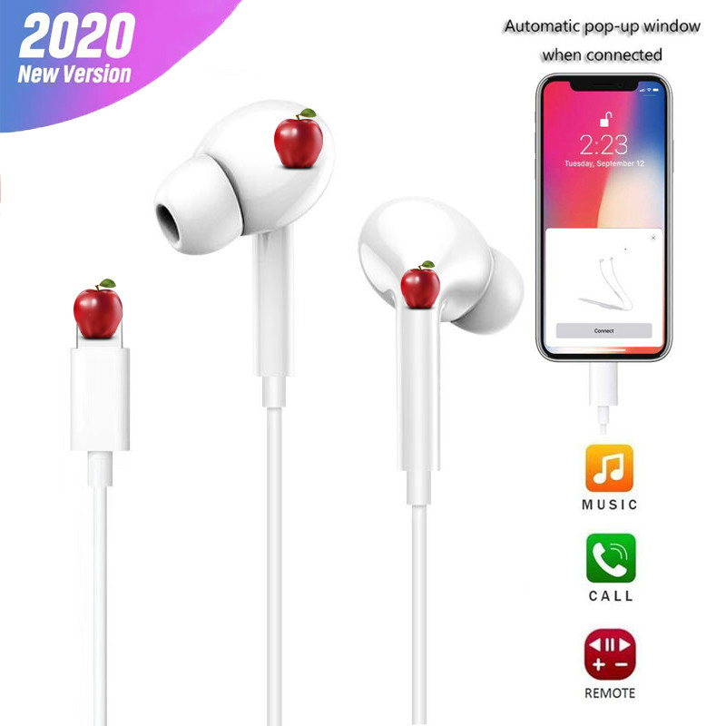 For Iphone 8 7 Plus X Xr Xs Max 11 11pro Max Headset In Ear Stereo Earphone With Microphone Wired Bluetooth Subwoofer Music Earphones Sale Price Reviews Gearbest