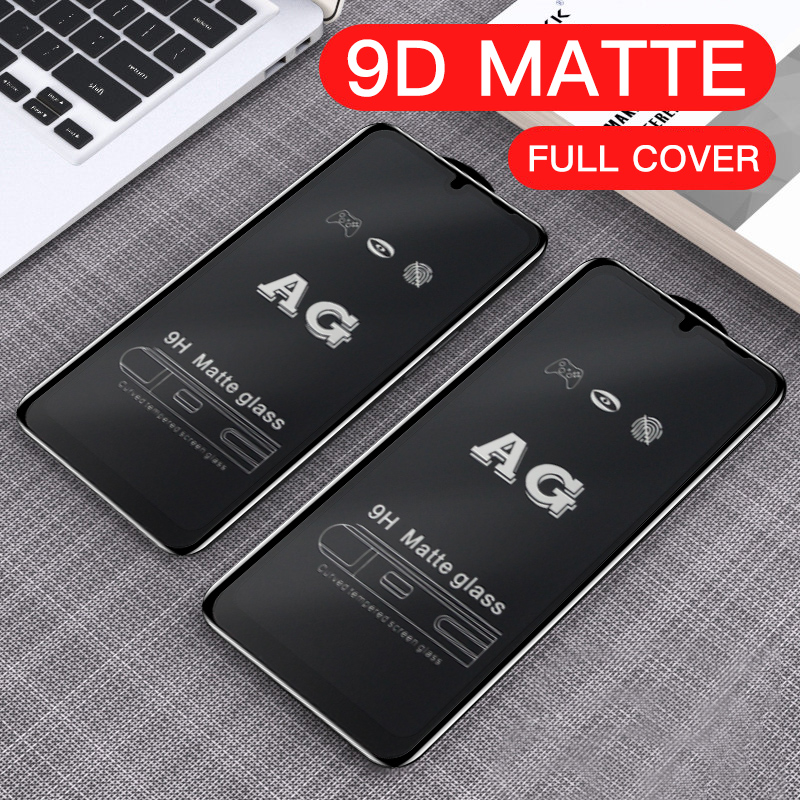 2PCS Frosted Matte 9D Tempered Glass Xiaomi POCO M3 X3 NFC F2pro Redmi Note 9 9S 9 Pro Anti-Fingerprint Screen Protector Protective Film