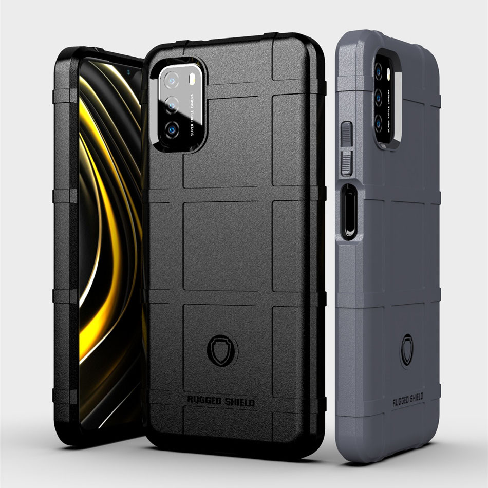 Rugged Shield Silicone Case Xiaomi Poco M3 X3 NFC Military Heavy Duty Protection Hard Phone Cover Xiaomi Mi 10T 10 Note10 Redmi Note9s Note 9