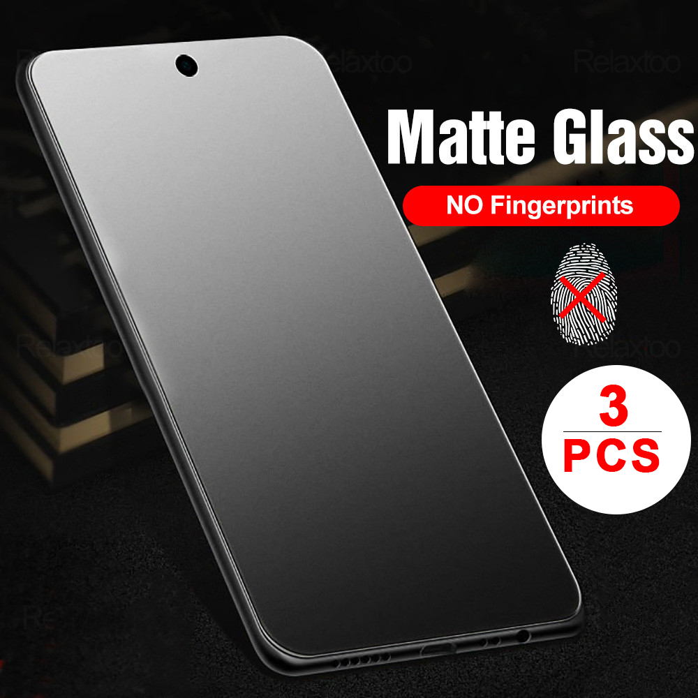 3pcs Frosted Matte Protective Glass Xiaomi Redmi Note 9s 7 8 9 Pro 8t 9a 8a Note9pro Screen Protector Film Xiaomi POCO X3 NFC F2 Pro