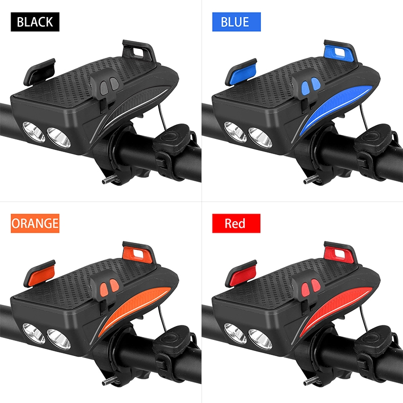 Mobile Phone Charger.Super 4000 mah Riding Light.Bicycle Parts Multi-Function Bicycle lamp Bicycle Mobile Phone Stand honking Horn