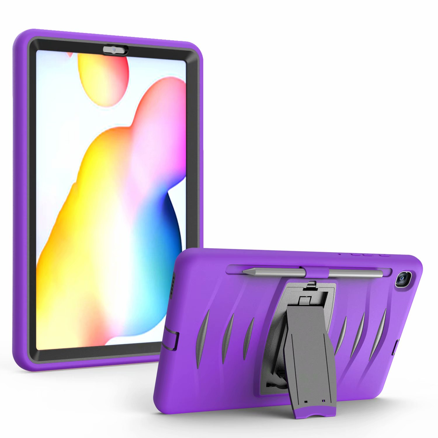 Huawei MediaPad M5 10.8 Case Premium PU Leather Book Style Folding Hand Strap Case with Kickstand Cover Card Slots Full Protection Shell Bummper for Huawei MediaPad M5 10.8 Tablet purple