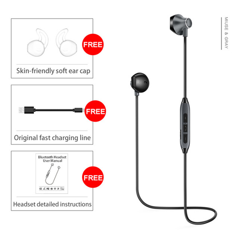 Picun H2 Bluetooth Earphone Wireless Headphones Bass Stereo Sport Running Headset With Mic Earphone For Iphone Xiaomi Samsung Huawei Oppo Sale Price Reviews Gearbest