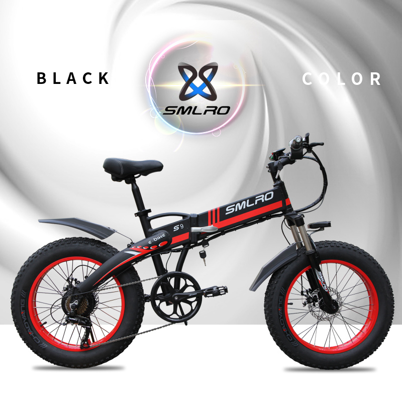 Smlro S9 Electric Bike 20inch 4 0 Fat Tire Aluminum Foldable Electric Bicycle 48v10ah 500w Powerful Mountain Snow Beach E Bike Sale Price Reviews Gearbest