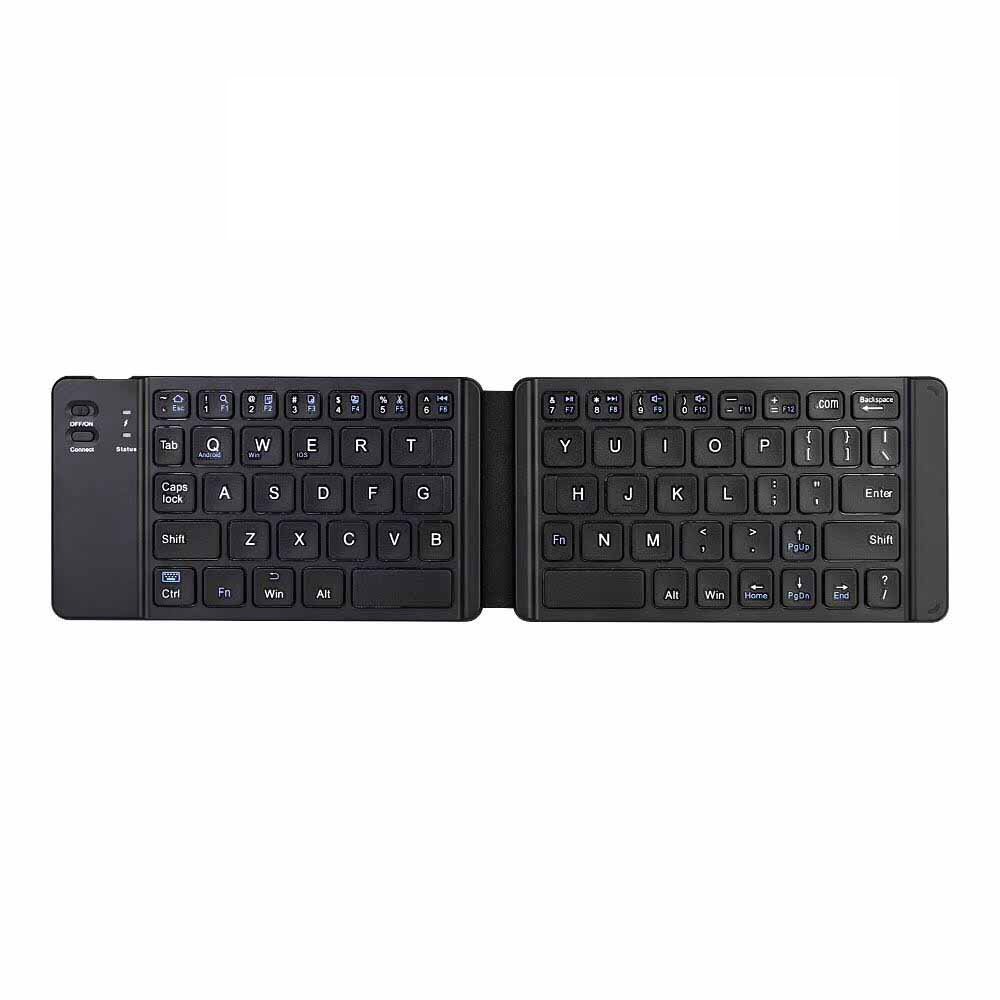 Wireless Bluetooth Outdoor Office Suitable for All Mobile Tablet Ipad Color : Black Portable Folding Reel Keyboard