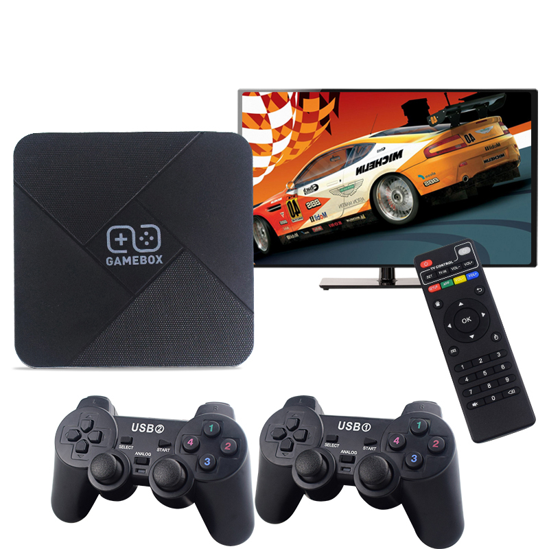 Two System TV Boxes + Game Consoles Into One 4K HD Wireless Controller - Black China