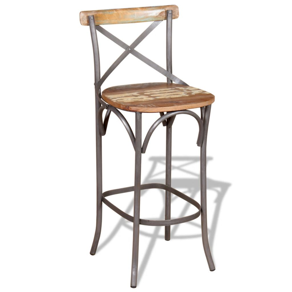 Picture of: Bar Chair Solid Reclaimed Wood Sale Price Reviews Gearbest