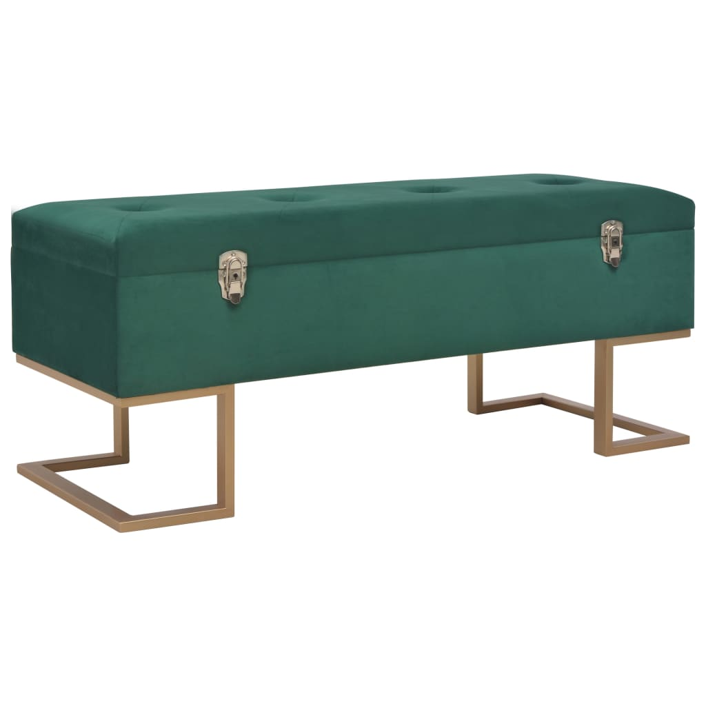 Bench With Storage Compartment 105 Cm Green Velvet Sale Price Reviews Gearbest