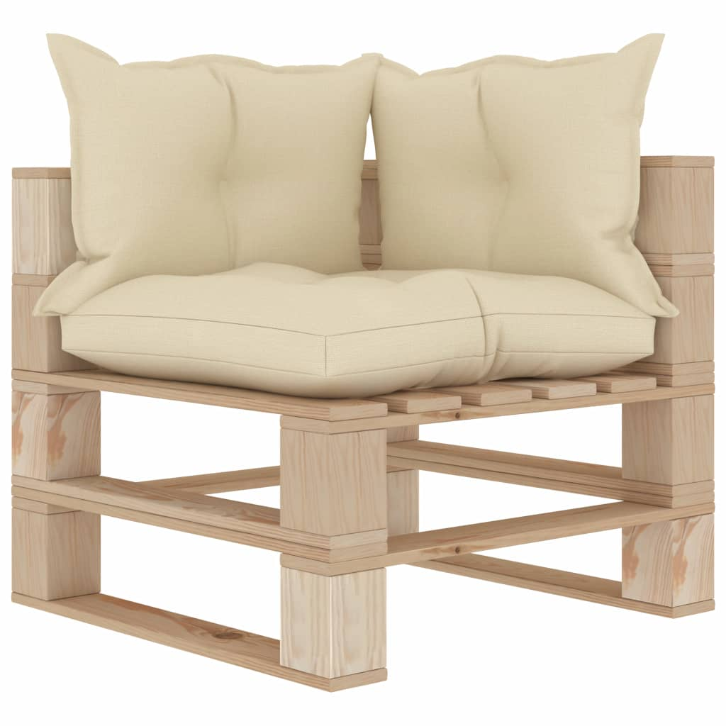 Garden Pallet Corner Sofa With Anthracite And Flower Cushions Wood Sale Price Reviews Gearbest