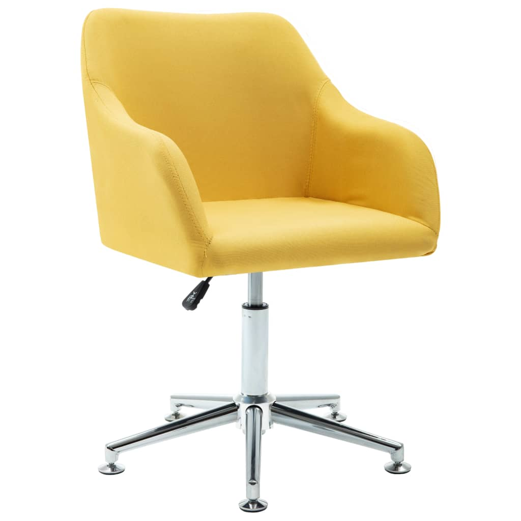 Swivel Dining Chair Yellow Fabric Sale Price Reviews Gearbest
