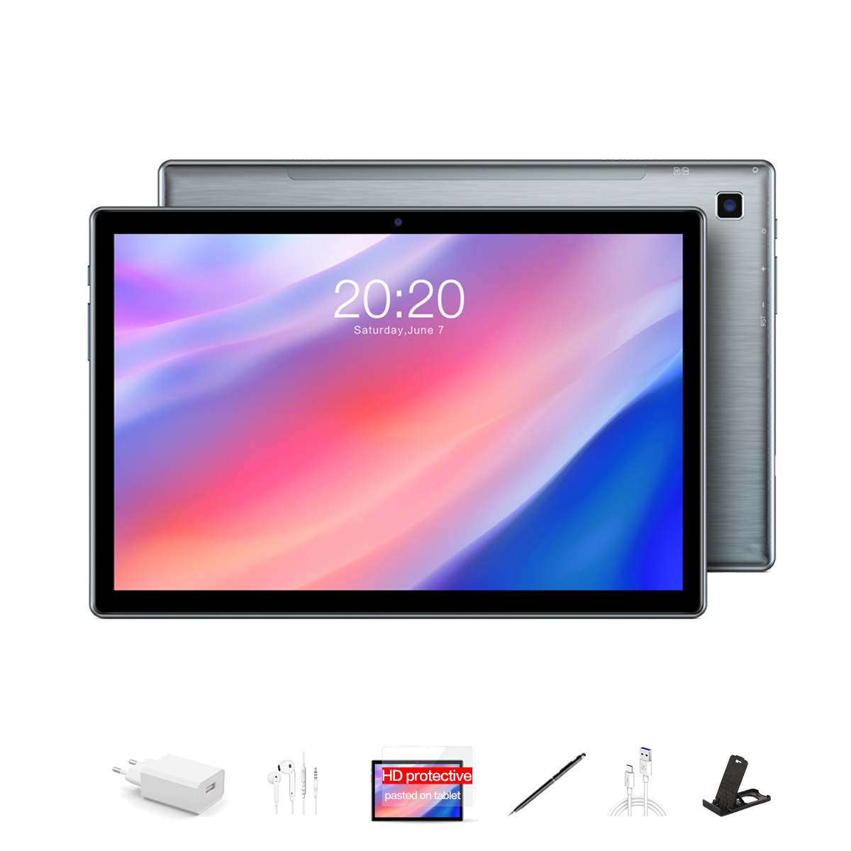 TECLAST P20HD 10.1-inch 4G Tablet Android 10.0 SC9863A Call Eight-core 1.6GHz 4GB RAM 64GB Bluetooth 5.0 - Bundle 1