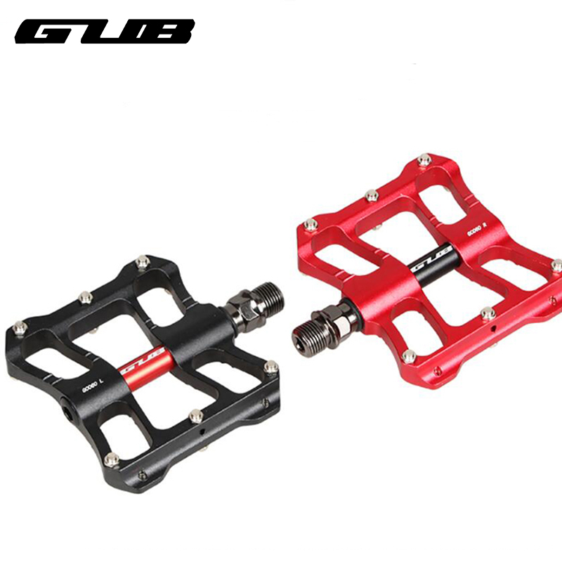 Cycling MTB Bike Ultralight Pedals Aluminum Bicycle Pedals W Warning Tail Light