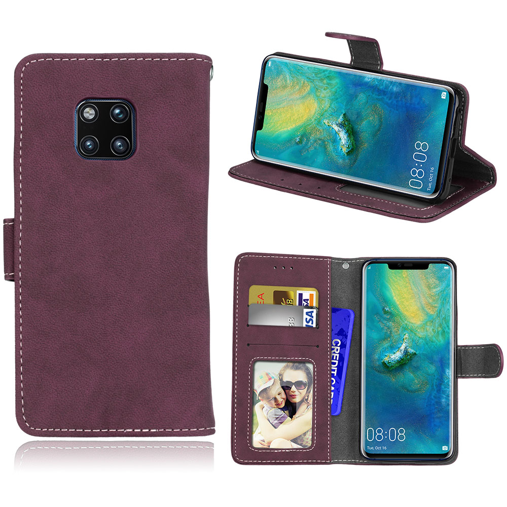 Herbests Compatible with Huawei P20 Pro Wallet Case Emboss Butterfly PU Leather Flip Case with Kickstand and Magnetic Closure Protective Cover with Card Slots for Women Men,Gray